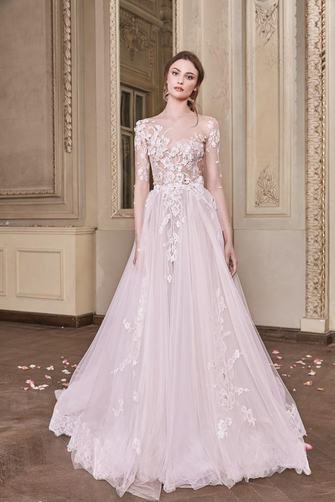 pretty nice e0ab0 75b38 Abito da sposa rosa cipria, vestirsi di eleganza
